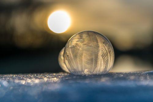 soap bubble ice cold