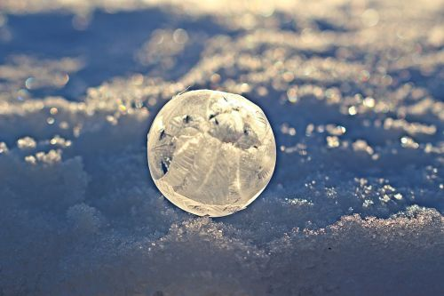 soap bubble crystal bubble frozen