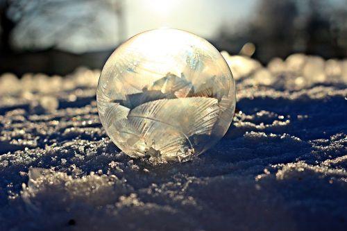 soap bubble eiskristalle sun