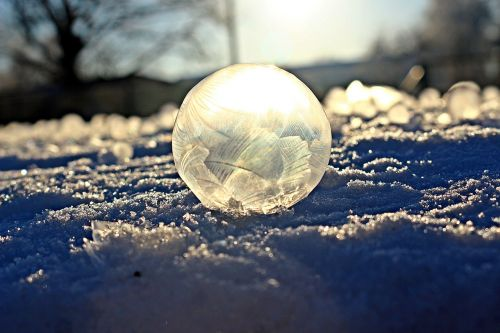 soap bubble frost blister frost globe