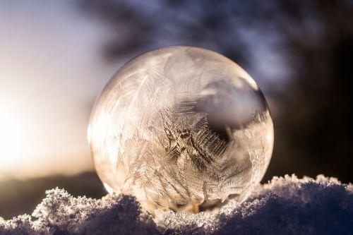 soap bubble frozen frozen bubble