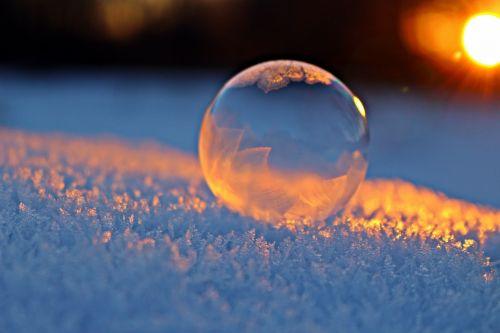 soap bubble afterglow snow