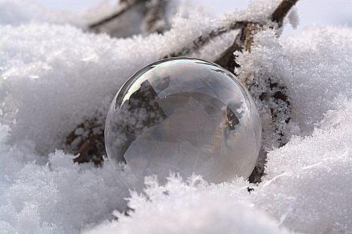 soap bubble frozen bubble frozen