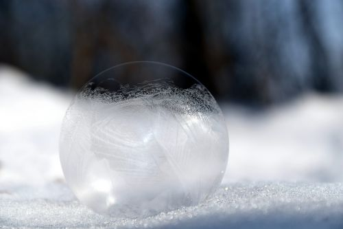 soap bubble frosted winter