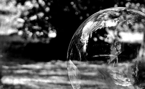 soap bubble black and white huge