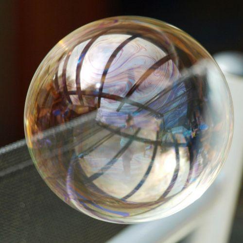 soap bubble large colorful