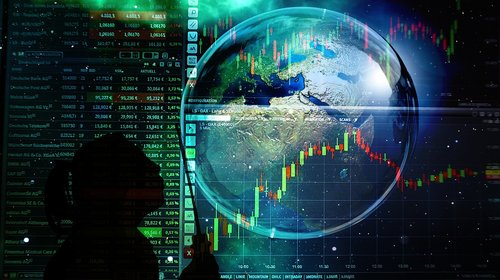 soap bubble  bokeh  stock exchange