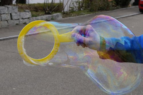 soap bubble make soap bubbles ring