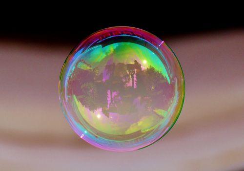 soap bubble colorful ball