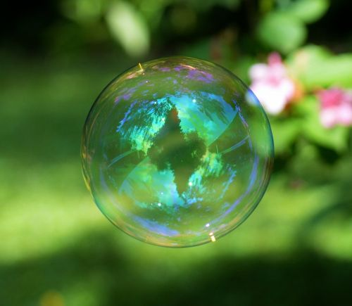 soap bubble colorful ball