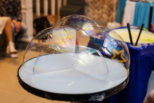 soap bubbles big bubbles bubbles in a cup