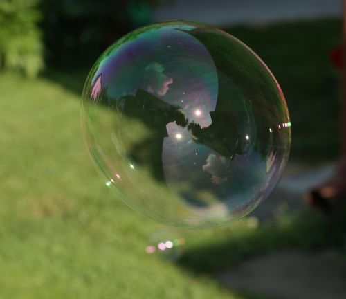 soap bubbles green bubble