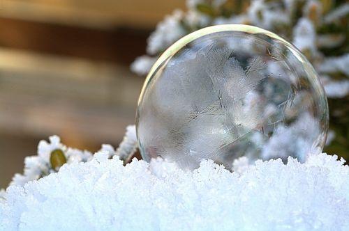 soap bubbles frozen frozen bubble