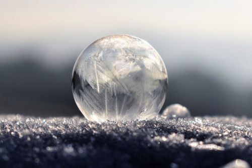 soap bubbles frozen frozen bubble