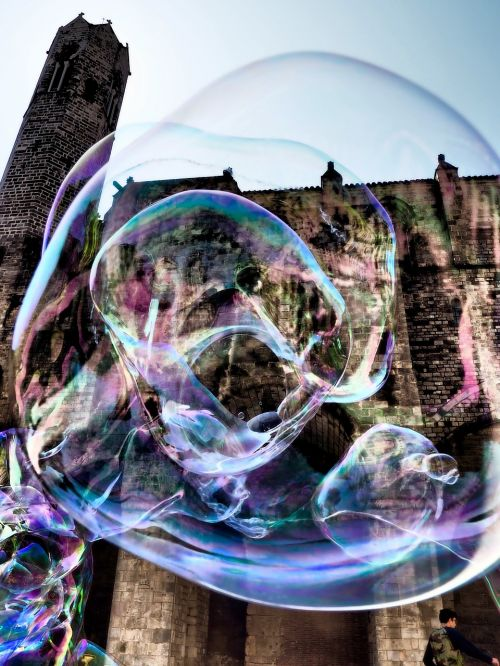 soap bubbles artist big