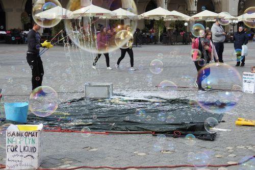 soap bubbles the market kraków