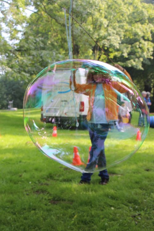 soap bubbles large human