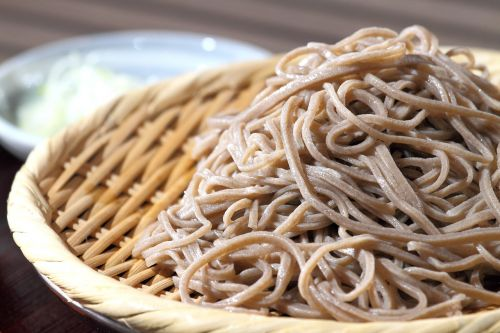 soba noodles near buckwheat