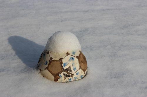 soccer ball snow