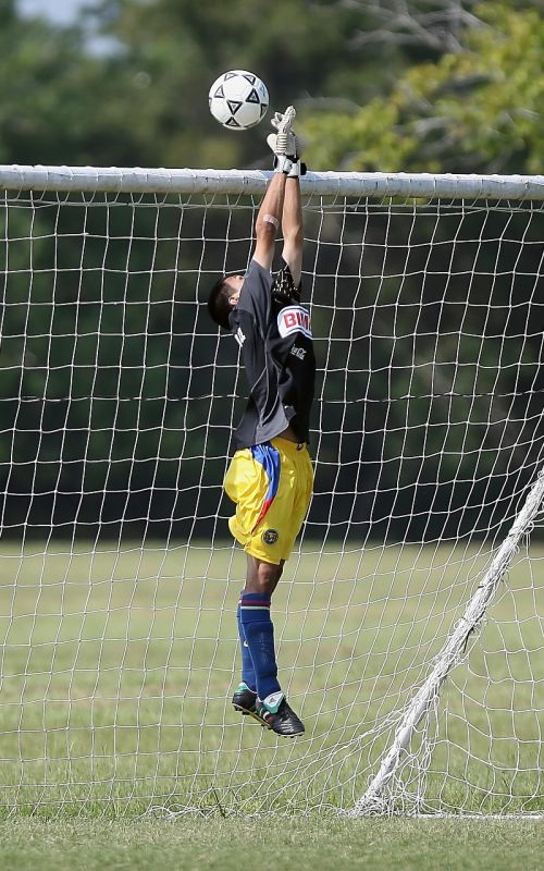 soccer goalkeeper save
