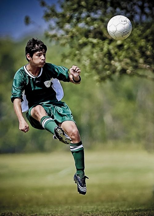 soccer kick kicking