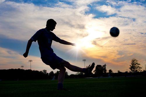 soccer kicking ball