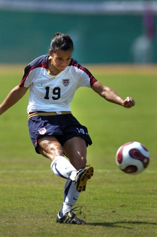 soccer woman kicking