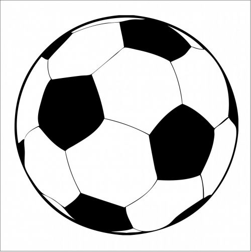 soccer ball football black