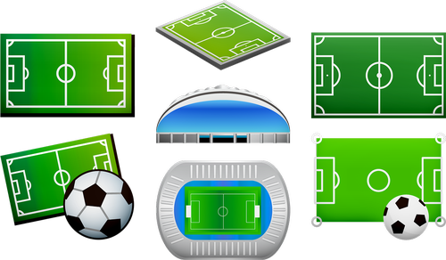 soccer field  football arena  soccer ball