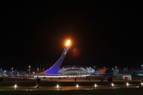 sochi the olympic flame torch