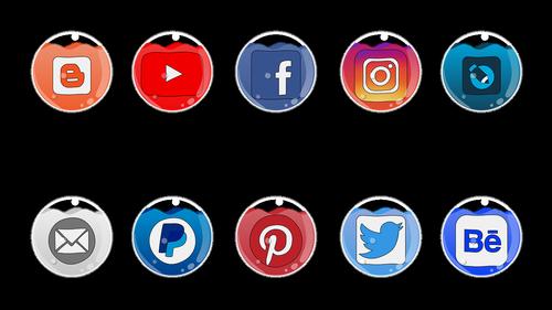 social  mass media  icons
