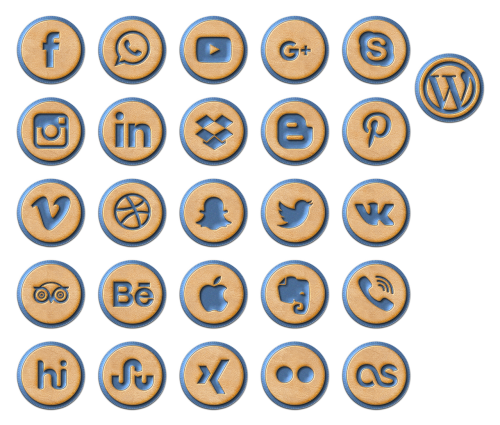 social media icon icons