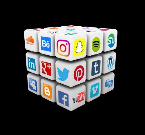 social media cube rubiks cube