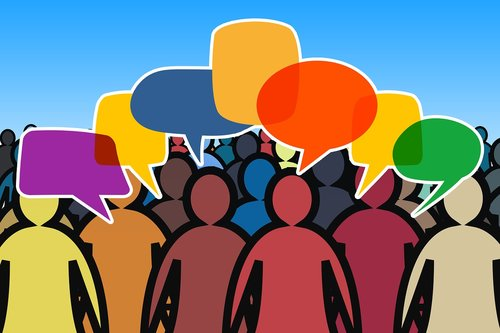 social media  crowd  human