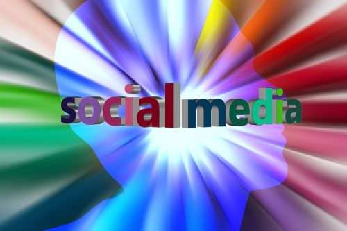 social media head silhouette