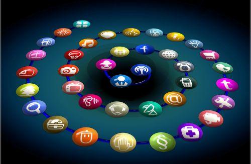 social network logo icons