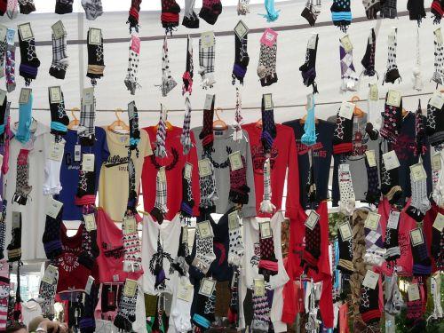 socks t shirts garments