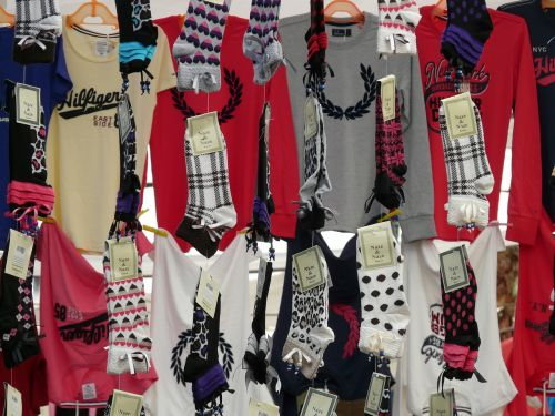 socks t shirts garments