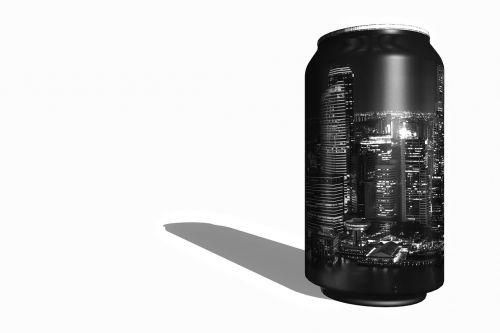 soda box black and white