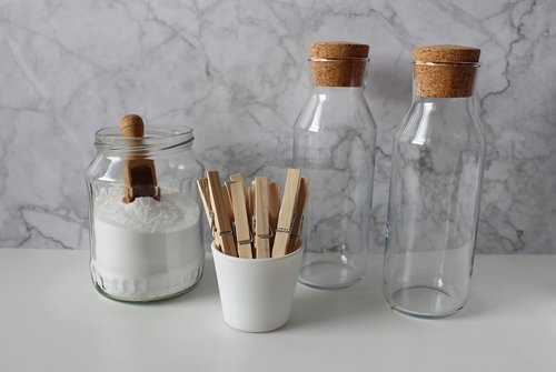 soda  clothes peg  glass bottle