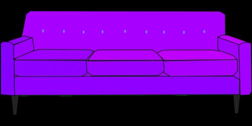 sofa purple settee