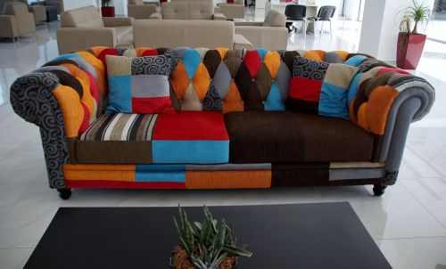 sofa colored upholstery