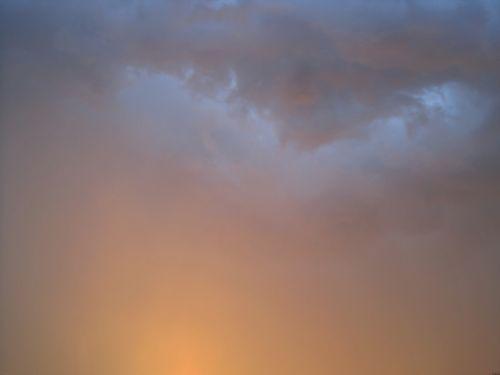 Soft Colours Of Setting Sun