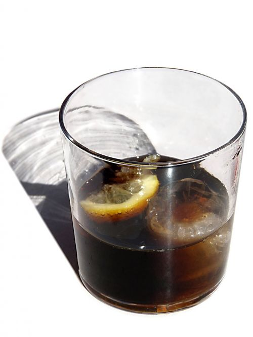 soft drink tail glass