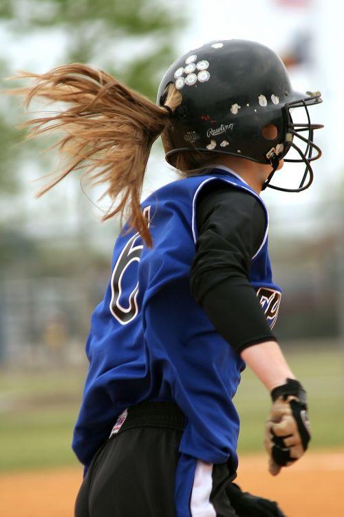 softball girls softball female