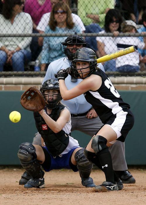 softball girls softball action