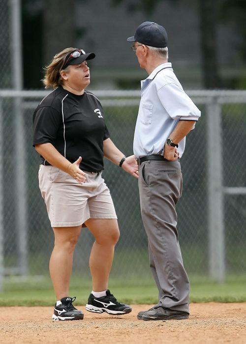 softball coach umpire