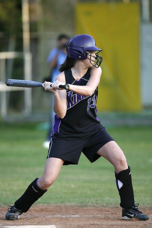 softball game hitter