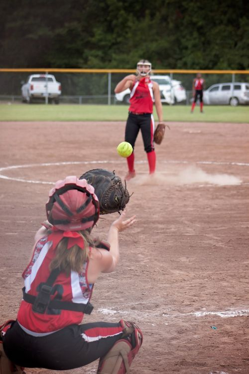 softball game catcher
