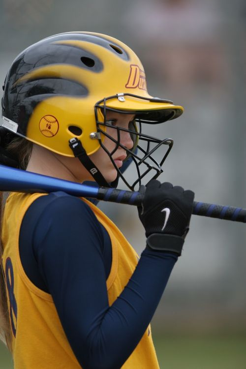 softball player helmet
